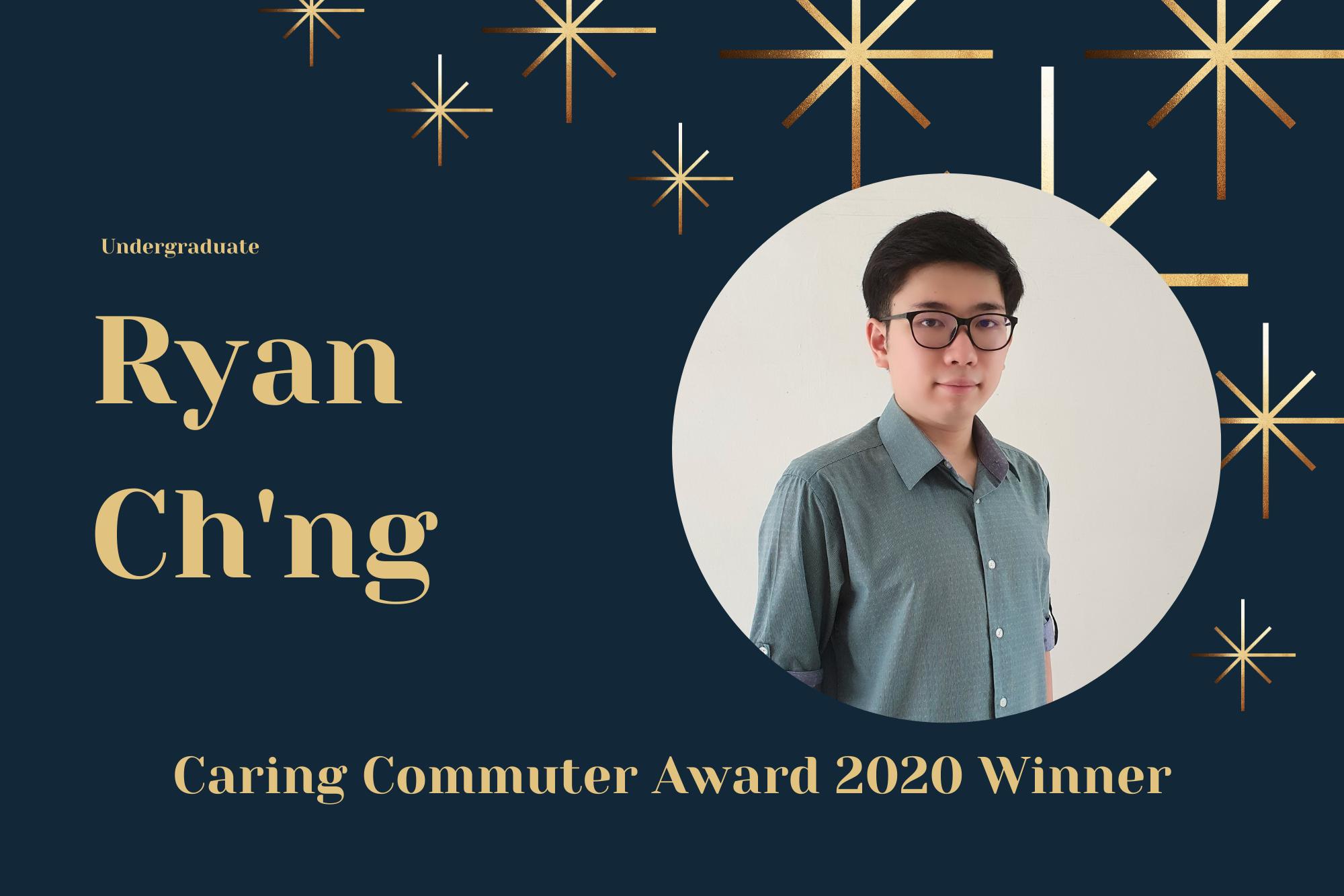 Meet Ryan, Undergraduate and Caring Commuter Award 2020 Winner