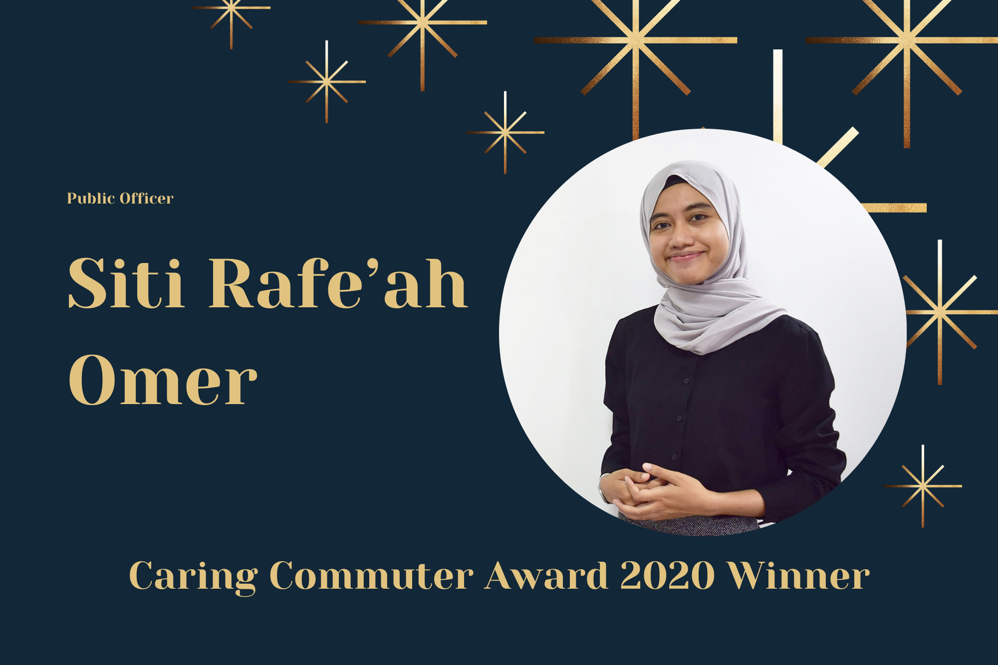 Meet Rafe'ah, Undergraduate and Caring Commuter Award 2020 Winner